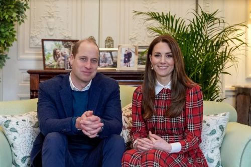 Kate Middleton dons tartan dress at Burns Night lunch for NHS heroes in Scotland