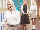 Holly Willoughby wins over fans with her leggy cream miniskirt on This Morning