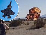 Video shows F-35 stealth fighter crashing into the ground after colliding with a tanker mid-air