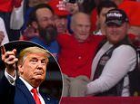 Heartwarming moment Trump fans carry WWII veteran to seat at the front of President's Phoenix rally