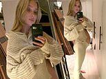 Pregnant Elsa Hosk bares baby bump in knit comfort wear as she wishes fans 'goodnight'