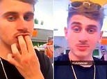 Coventry's Jak Hickman filmed appearing to place white substance on gums