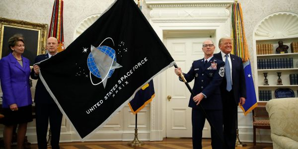 A Space Force Commander was fired after comments made on conservative podcasts about diversity and Marxism