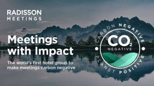 Radisson Hotel Group offers carbon negative meetings