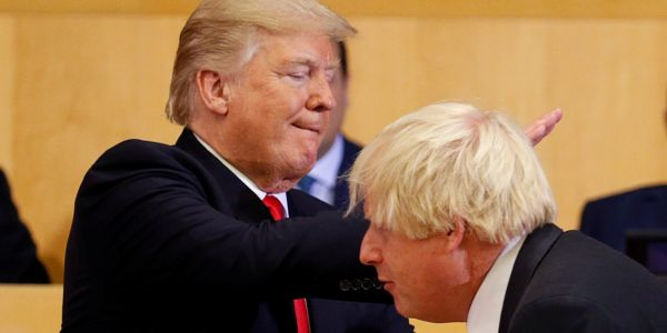 Donald Trump congratulates Boris Johnson on a 'great WIN' in the UK election