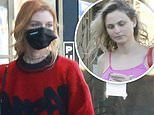 Stella Maxwell shops at Los Feliz butcher with mystery blonde. after signing with agency The Lions