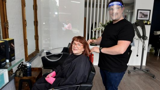 Relief all round as barbers and salons finally reopen