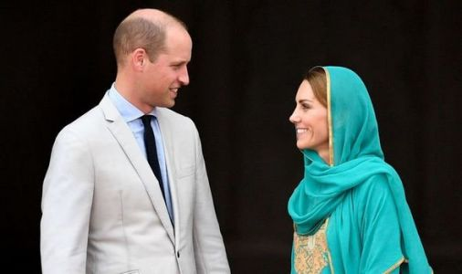 Kate dons headscarf for visit mosque - before couple follow make same visit as Diana