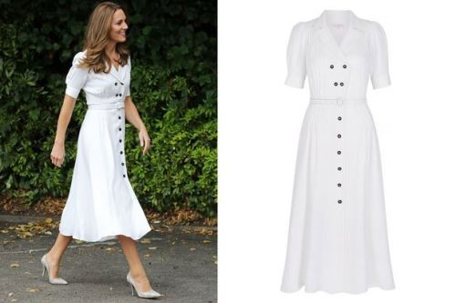 Kate Middleton wows in white shirt dress, get the look from £18