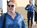 Amy Adams dons double denim as she steps out in Beverly Hills for fittings ahead of Oscars
