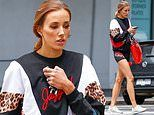 Bec Judd wears $220 Jaggad activewear to buy Christmas presents in Melbourne