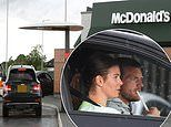 Rebekah Vardy and her husband Jamie head to McDonald's drive-thru in luxury £130k Bentley Bentayga
