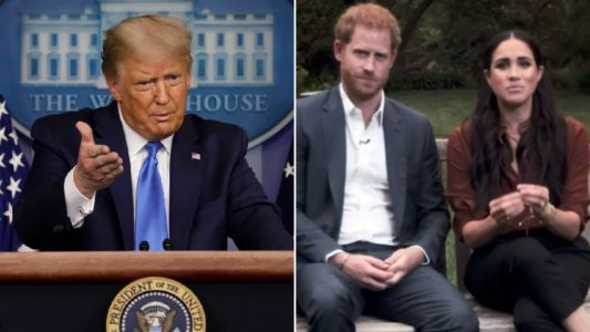 Donald Trump blasts Meghan Markle and says Prince Harry 'is going to need a lot of luck'