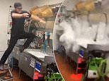 Video shows Taco Bell employee jumping into the sink on his last day at work