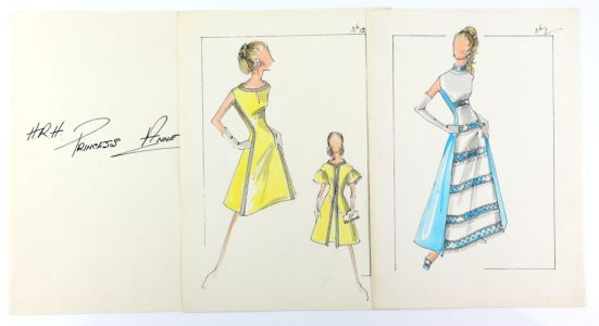 Norman Hartnell designs for Princess Anne up for auction