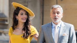 Apparently George and Amal Clooney 'didn't know' Harry and Meghan when they attended the royal wedding