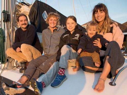Greta Thunberg just set sail for Spain with 2 Australian YouTubers, their baby, and a professional skipper