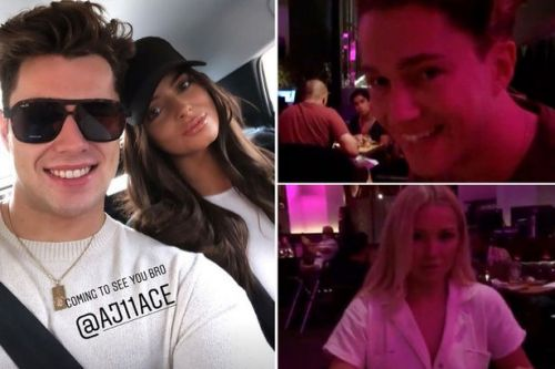 Curtis Pritchard and Maura Higgins reunite for swanky champagne fuelled double date with brother AJ