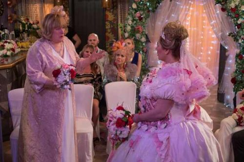 Sally JILTS cheating Myra in Hollyoaks double wedding - but Mercedes and Sylver tie the knot