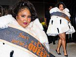 Lizzo dons regal faux-fur cape quoting Lady Gaga in NYC