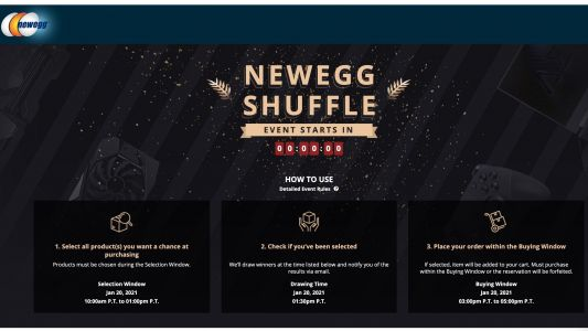 Newegg Responds to GPU, CPU Shortages With Controversial Lottery System