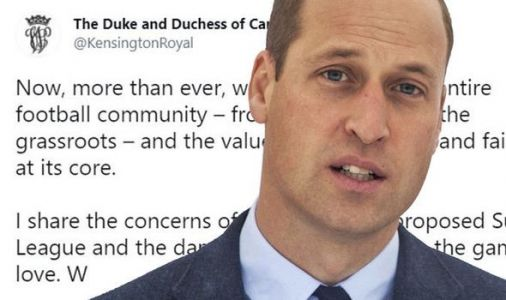 Prince William praised by fans for making public dig at Super League - 'Well said, Sir!'