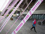 National Theatre axes 400 casual jobs as venues around the UK are wrapped in messages of hope
