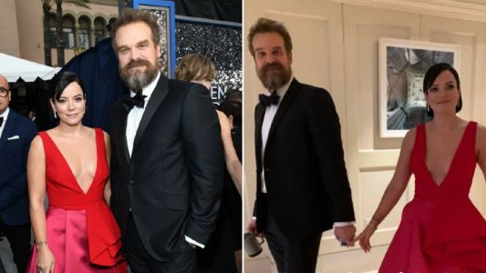 SAG Awards 2020: David Harbour bigs up 'hot and talented' girlfriend Lily Allen as pair hit the red carpet