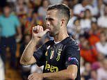 Valencia 0-2 Juventus: Cristiano Ronaldo sees red in first Champions League game for Serie A giants