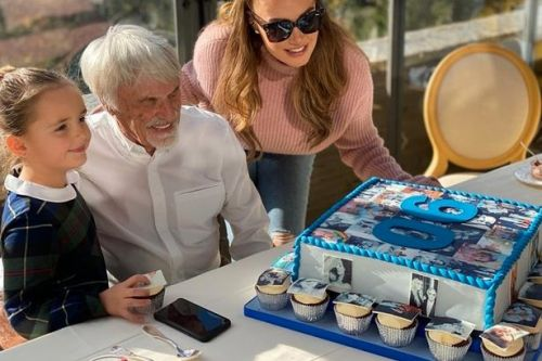 Tamara Ecclestone celebrates dad Bernie's 90th birthday weeks after giving birth