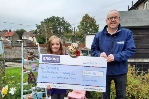 Lanarkshire schoolgirl raises hundreds of pounds for veterans charity in memory of late grandfather