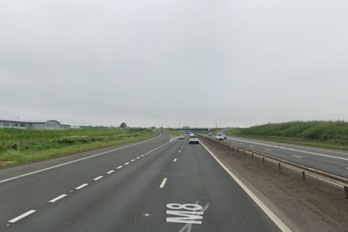 Traffic chaos on M8 as car crash sparks delays on busy motorway