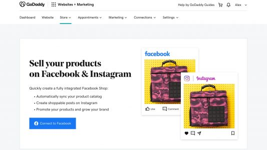 GoDaddy now allows you to sell on Facebook, Instagram and Google Shopping