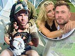 Chris Hemsworth shares picture with son's pets - before brother Luke points out bizarre detail