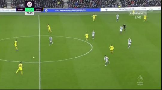 : Antonio Rudiger's awesome highlight reel moment against Brighton