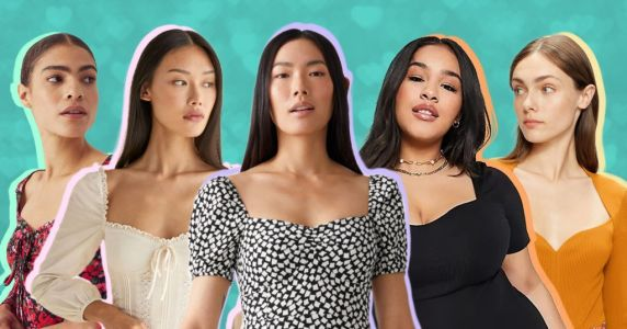 The sweetheart neckline is on trend again - here's how to wear it