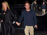 Ant McPartlin holds hands with his girlfriend Anne-Marie Corbett as the couple enjoy a dinner date