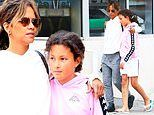 Halle Berry wraps an arm around daughter Nahla, 11, as they enjoy weekend LA stroll