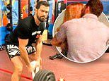 Jesse Metcalfe hits the gym after being pictured canoodling two women and 'blindsiding' his fiancée