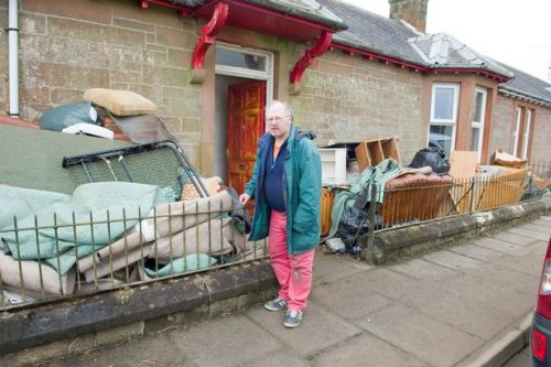 Storm Dennis clear up begins as residents tell of shock after flood swept through Scots village