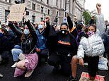 Thousands of protesters take the knee at Black Lives Matter demonstration in Parliament Square