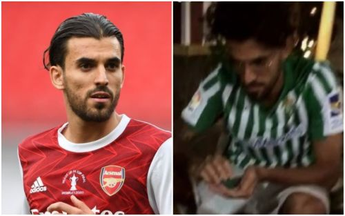 Arsenal concern as Dani Ceballos wears Real Betis shirt on holiday