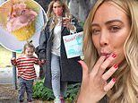 Hilary Duff celebrates landing new Hulu series by having 'cupcake party' with daughter Banks