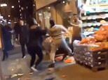 Video of gang of youths attack shopkeeper in Streatham south London