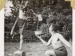 WWII soldiers hold balancing competitions and celebrate Christmas away from the heat of battle