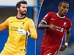 Liverpool 'could be without Alisson and new boy Thiago Alcantara for visit of Arsenal'