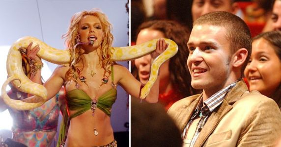Britney Spears reveals Justin Timberlake's pep talk ahead of iconic MTV VMAs performance with snake