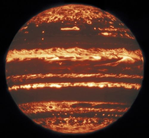 Gemini North captures 'lucky' shot of Jupiter in all its infrared glory