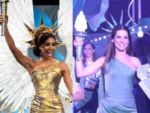 Miss USA Cheslie Kryst wore a Statue of Liberty dress that looked like something straight out of 'Miss Congeniality' to compete in Miss Universe 2019