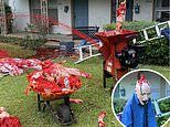 Texas man defiantly reconstructs gory Halloween display after his neighbors called 911 last year
